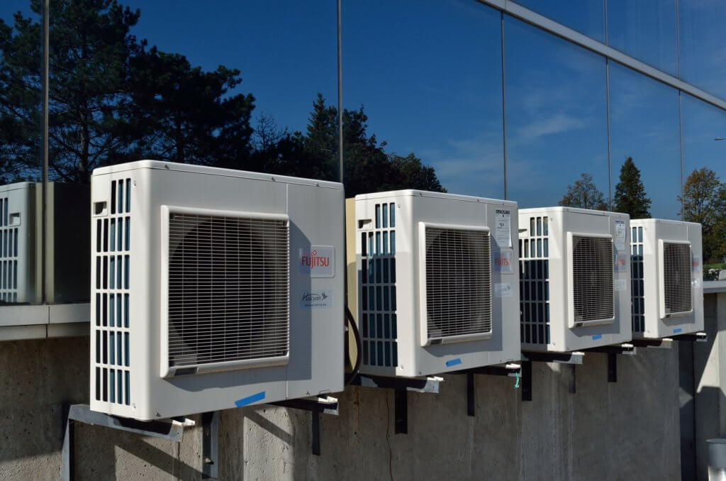 HVAC units on building